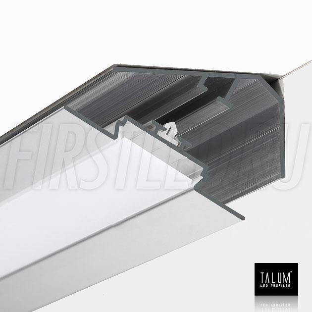 Фиксация углового алюминиевого профиля TALUM C46.27 между собой с помощью клипсы
