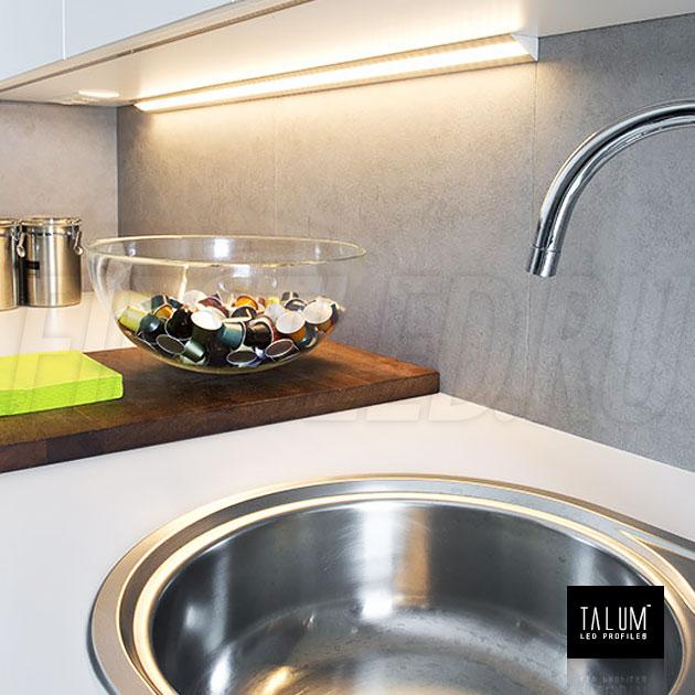 Подсветка на кухне благодаря угловому светодиодному профилю TALUM C46.27