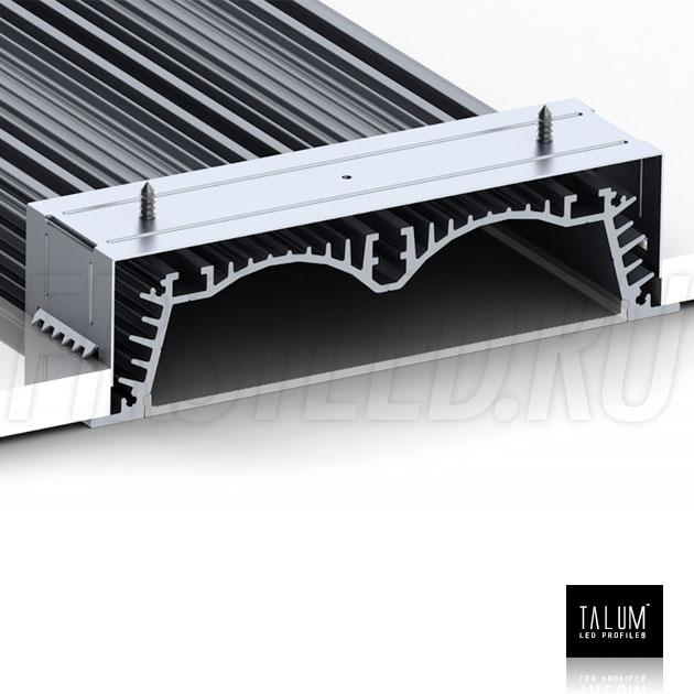 Надежная фиксация встраиваемого профиля TALUM E138.30 в потолке с помощью крепежа для встраивания