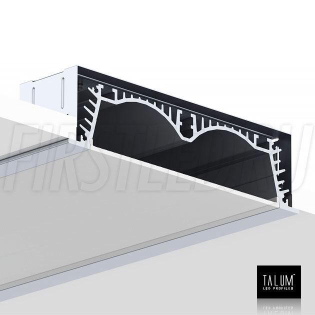 Установка встраиваемого профиля TALUM E138.30 в потолок с помощью монтажных скоб
