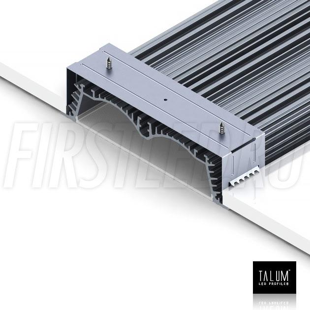 Монтаж встраиваемого профиля TALUM E138.30 в потолок с помощью монтажных скоб
