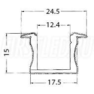 Чертеж (схема) светодиодного профиля TALUM E25.15
