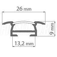 Чертеж (схема) светодиодного алюминиевого профиля TALUM E26.9