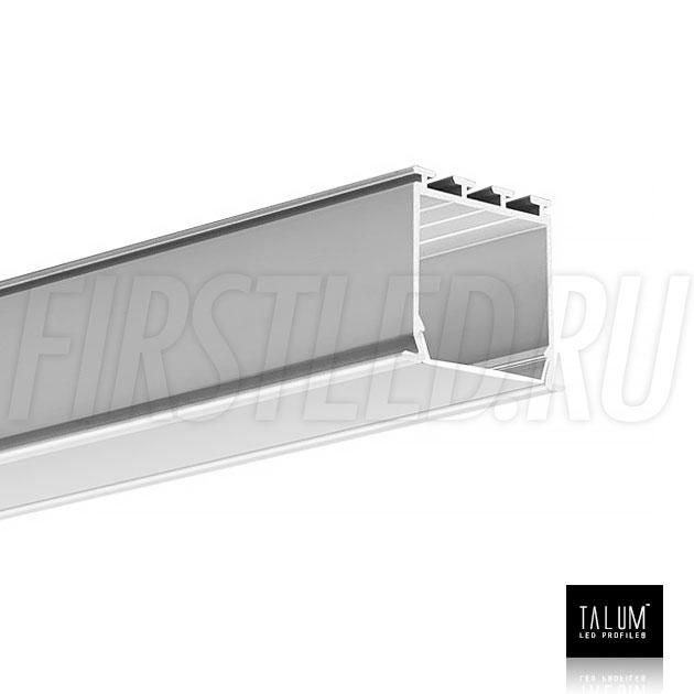 Встраиваемый алюминиевый профиль TALUM E30.25 вместе с матовым рассеивателем