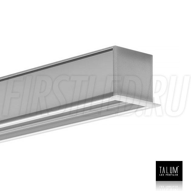 Встраиваемый алюминиевый профиль TALUM E30.25 с заглушкой