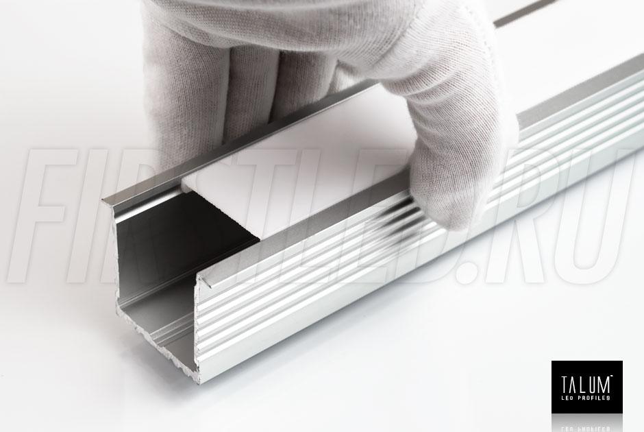 Встраиваемый алюминиевый профиль TALUM E44.35