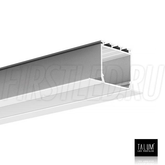 Встраиваемый алюминиевый профиль TALUM E46.25 вместе с матовым рассеивателем
