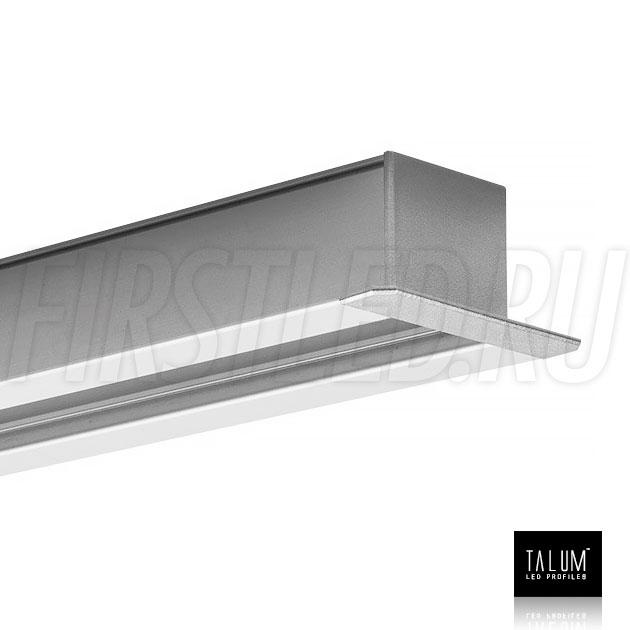Встраиваемый алюминиевый профиль TALUM E46.25 с заглушкой