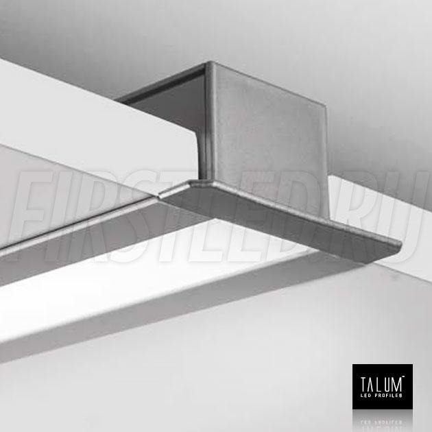 Встраиваемый алюминиевый профиль TALUM E46.25 в гипсокартонном потолке