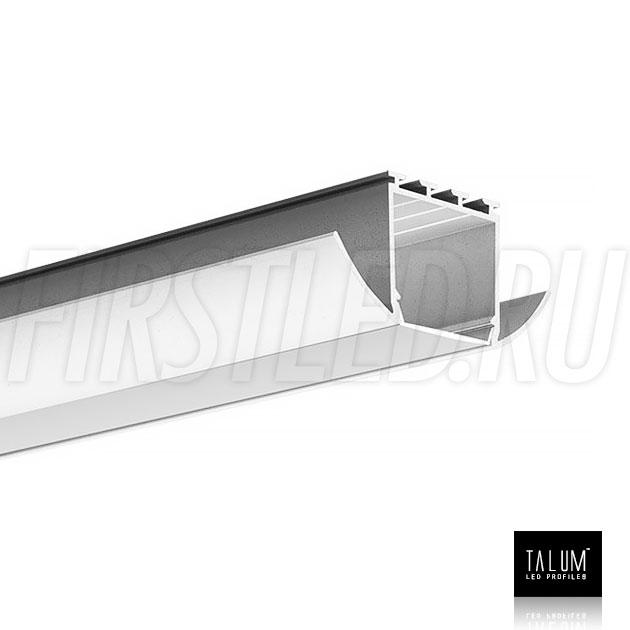 Встраиваемый алюминиевый профиль TALUM E51.25 вместе с матовым рассеивателем