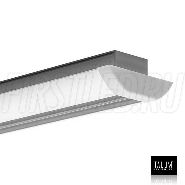 Встраиваемый алюминиевый профиль TALUM E51.25 с заглушкой