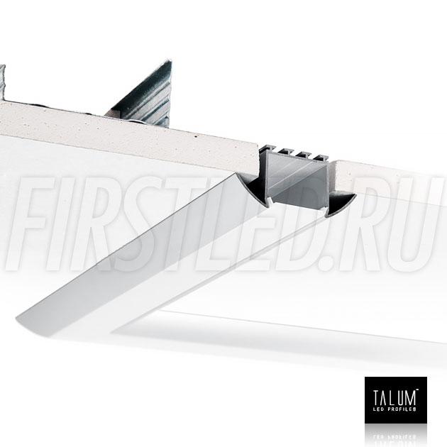 Встраиваемый алюминиевый профиль TALUM E51.25 в гипсокартонном потолке