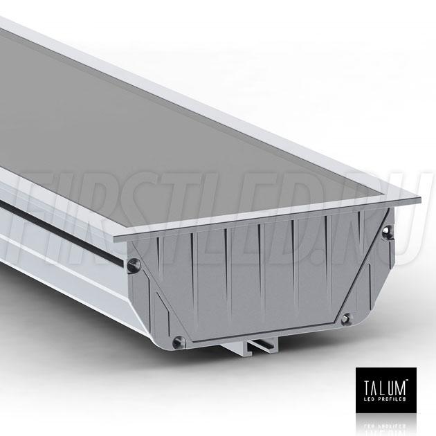 Встраиваемый светодиодный профиль TALUM E92.40 с алюминиевой заглушкой