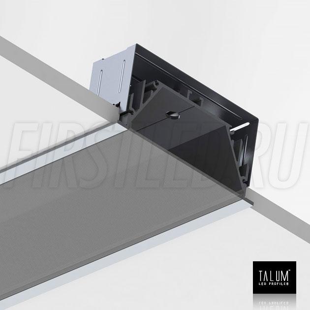 Установка встраиваемого профиля TALUM E92.40 в потолок с помощью монтажных скоб
