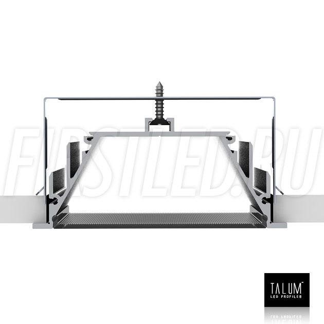 Способ монтажа встраиваемого алюминиевого профиля TALUM E92.40