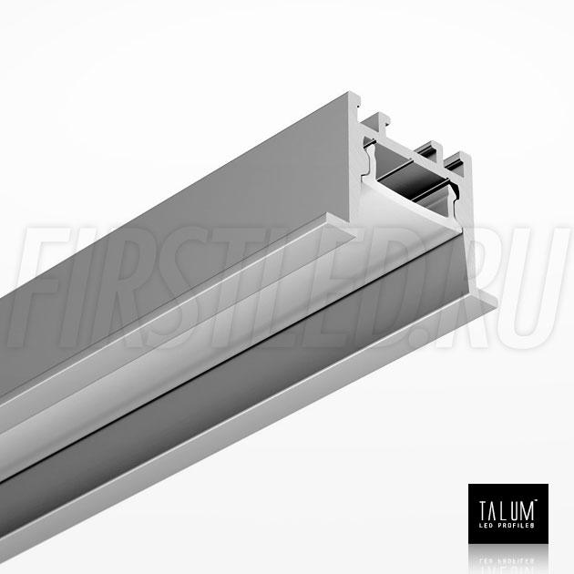 Встраиваемый алюминиевый профиль TALUM HIDE E23.16 вместе с рассеивателем