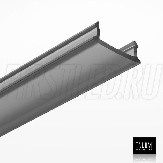 Черный матовый рассеиватель для светодиодного профиля TALUM HIDE E23.16