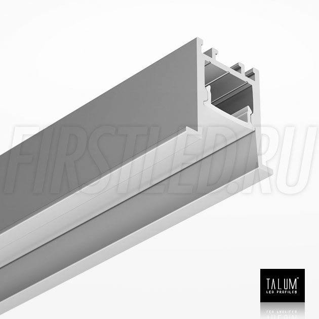 Встраиваемый алюминиевый профиль TALUM HIDE E23.22 вместе с рассеивателем
