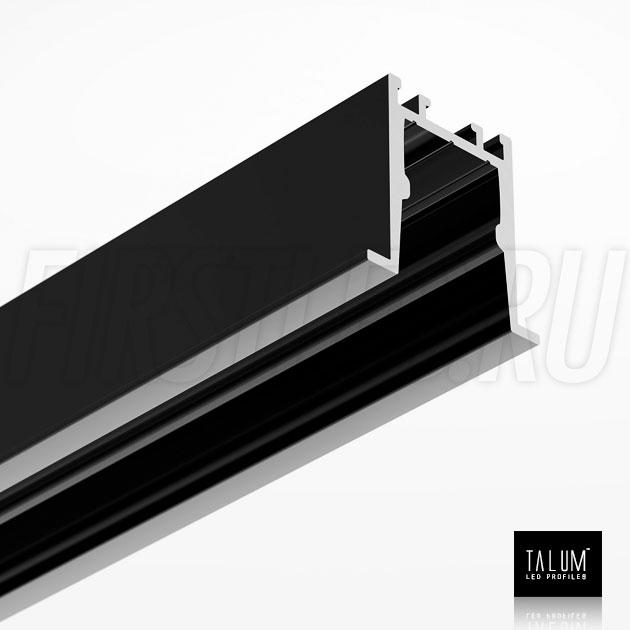 Встраиваемый алюминиевый профиль TALUM HIDE E23.22 BLACK (черный)