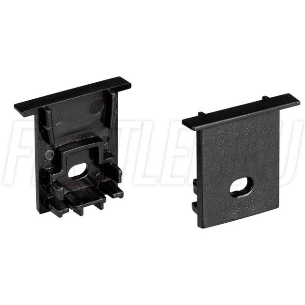 Заглушки черные с отверстием для светодиодного профиля TALUM HIDE E23.22 BLACK