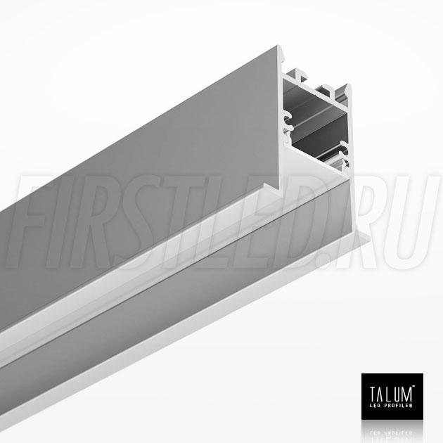 Встраиваемый алюминиевый профиль TALUM HIDE E35.42 вместе с рассеивателем