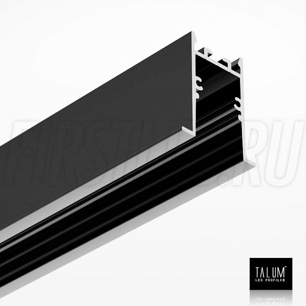 Встраиваемый алюминиевый профиль TALUM HIDE E35.42 BLACK (черный)