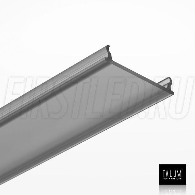 Черный матовый рассеиватель для светодиодного профиля TALUM HIDE E35.42