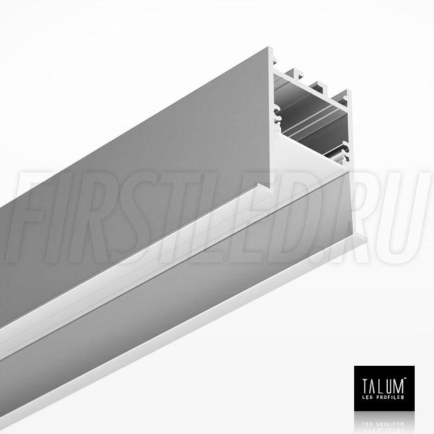 Встраиваемый алюминиевый профиль TALUM HIDE E45.51 вместе с рассеивателем