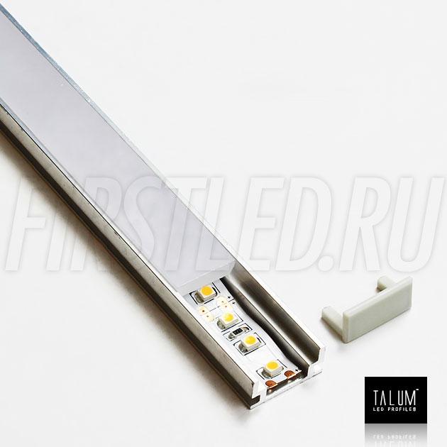 Герметичный встраиваемый профиль TALUM E19.8 со светодиодной лентой IAMLED MONO 120