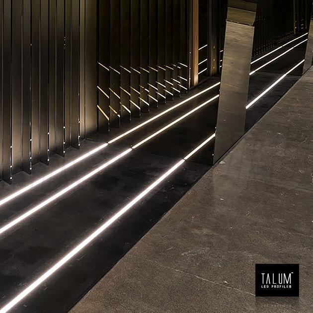 Подсветка дорожки благодаря герметичному профилю TALUM E19.8