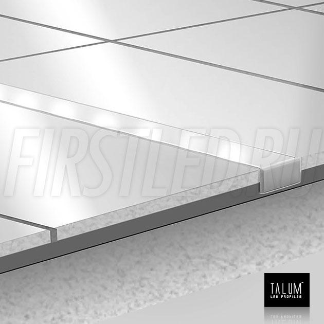 Герметичный светодиодный профиль TALUM E19.8 установленный в плитке
