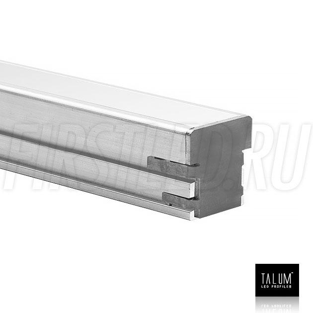 Герметичный встраиваемый профиль TALUM E26.26 с заглушкой и матовым рассеивателем