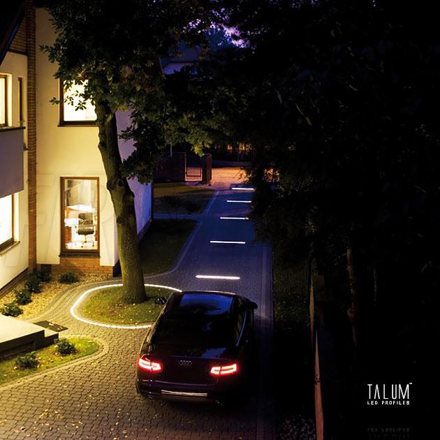 Декоративное светодиодное освещение из герметичного профиля TALUM E26.26