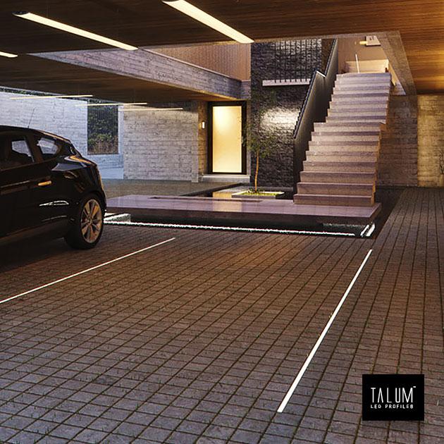 Подсветка в гараже с помощью профиля TALUM E26.26