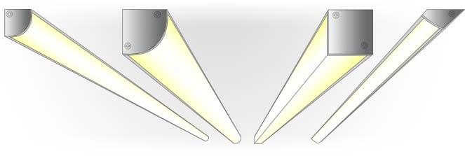 Угловой алюминиевый светодиодный профиль TALUM