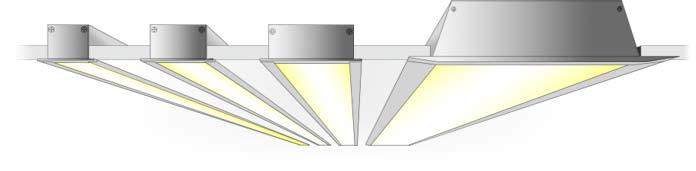 Встраиваемый алюминиевый светодиодный профиль TALUM