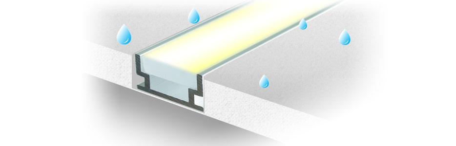 Герметичный светодиодный алюминиевый профиль TALUM