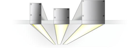 Безрамочный светодиодный алюминиевый профиль TALUM