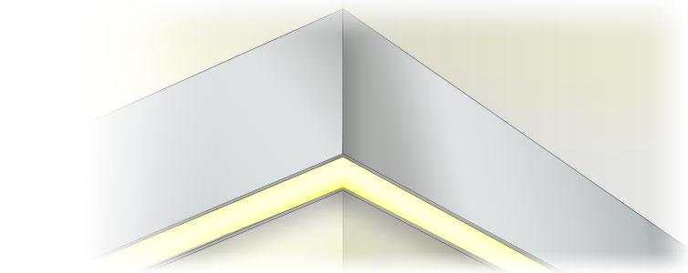 Настенный алюминиевый светодиодный профиль TALUM