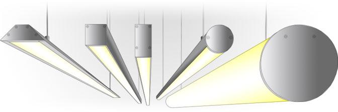 Подвесной алюминиевый светодиодный профиль TALUM