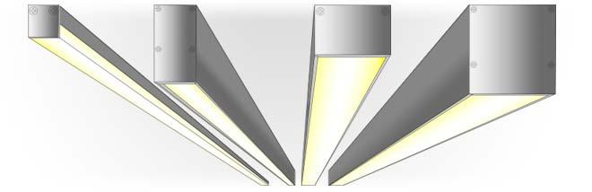 Накладной алюминиевый светодиодный профиль TALUM