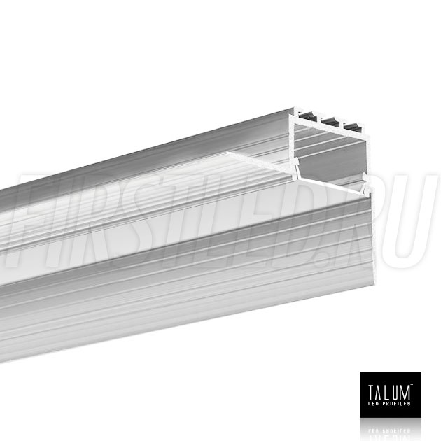 Встраиваемый алюминиевый профиль без рамок вдоль стен TALUM BORDER 24 с матовым рассеивателем