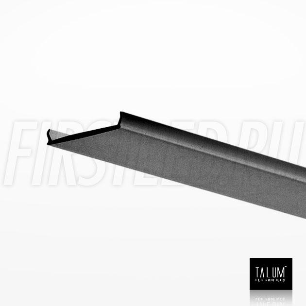 Черный матовый рассеиватель для встраиваемого алюминиевого профиля без рамок вдоль стен TALUM BORDER 24