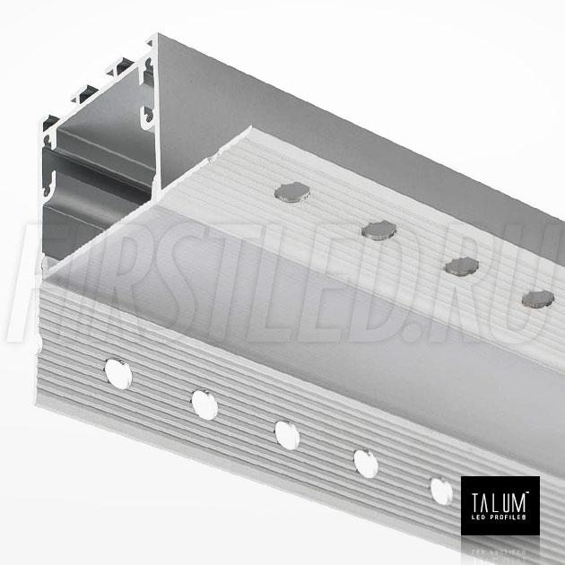 Встраиваемый алюминиевый профиль без рамок вдоль стен TALUM BORDER 32 вместе с матовым рассеивателем (PROF U.35)