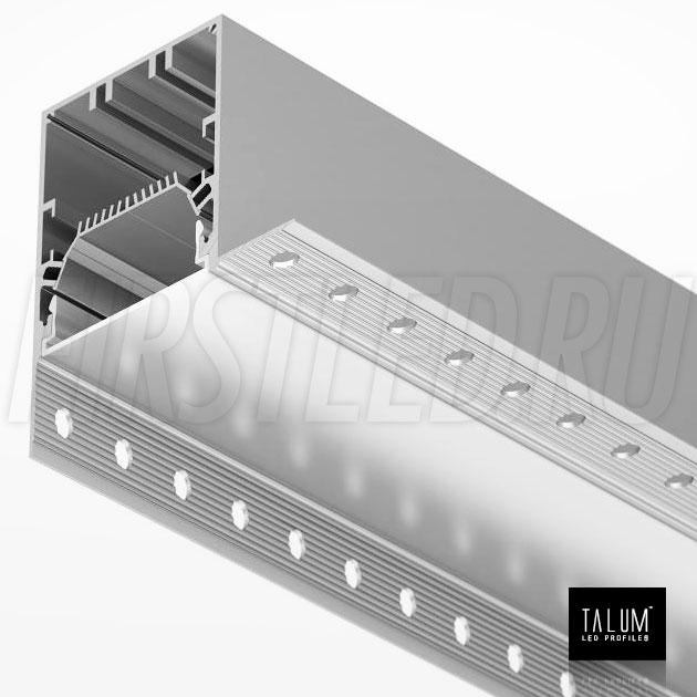 Встраиваемый алюминиевый профиль без рамок вдоль стен TALUM BORDER 54 вместе с матовым рассеивателем (PROF U.54)
