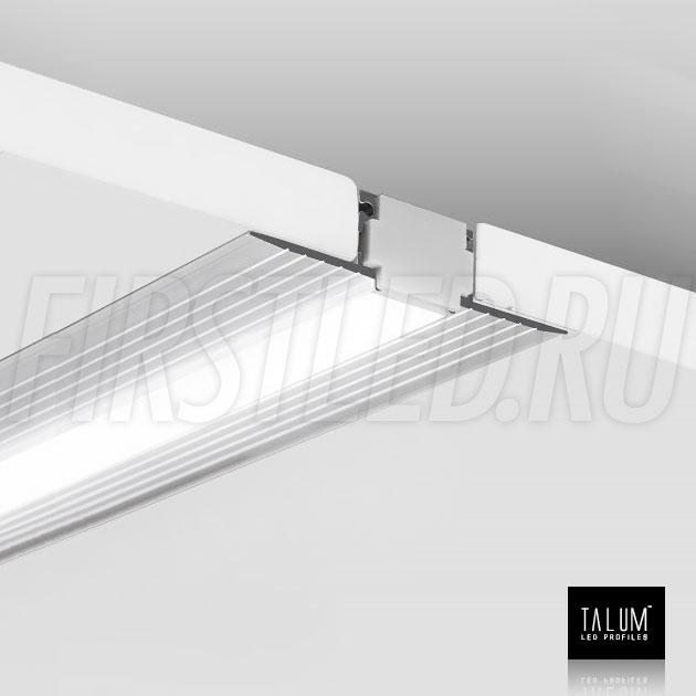 Смонтированный в потолке встраиваемый алюминиевый профиль без рамок TALUM NOFRAME 12.14 (wp12.14n)