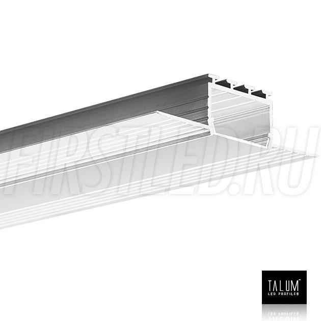Встраиваемый алюминиевый профиль без рамок TALUM NOFRAME 24.18 вместе с матовым рассеивателем