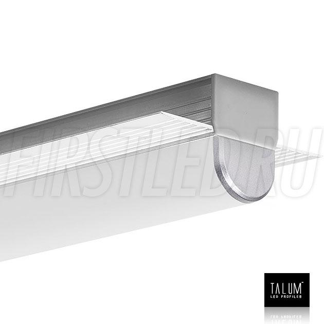 Встраиваемый алюминиевый профиль без рамок TALUM NOFRAME 24.18 с круглым выступающим рассеивателем