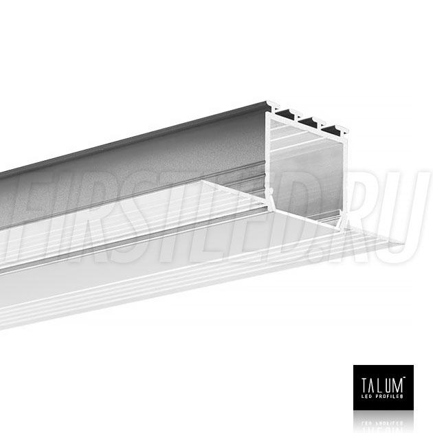 Встраиваемый алюминиевый профиль без рамок TALUM NOFRAME 24.25 (eh67.25) вместе с матовым рассеивателем
