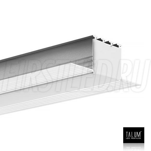Встраиваемый алюминиевый профиль без рамок TALUM NOFRAME 24.25 (eh67.25) с заглушкой и матовым рассеивателем